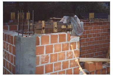 confined masonry using hollow clay tiles