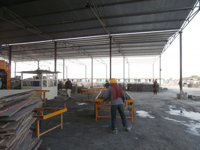 manufacturing and storing materials on site